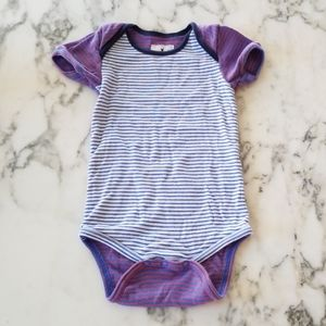Purple/Blue Striped Onesies, Size 3-6 Months